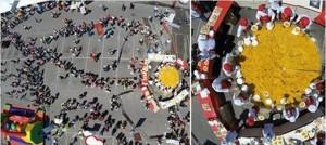 imagen dron paella gigante